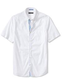 Banana Republic Tailored Slim Fit Button Down Short Sleeve Shirt