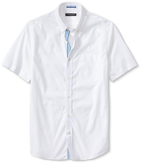 Banana Republic Tailored Slim Fit Button Down Short Sleeve Shirt ...