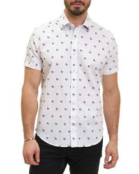 Robert Graham Tareck Tailored Fit Short Sleeve Sport Shirt