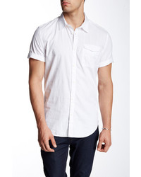Calvin Klein Jeans Tonal Stripe Solid Short Sleeve Regular Fit Shirt