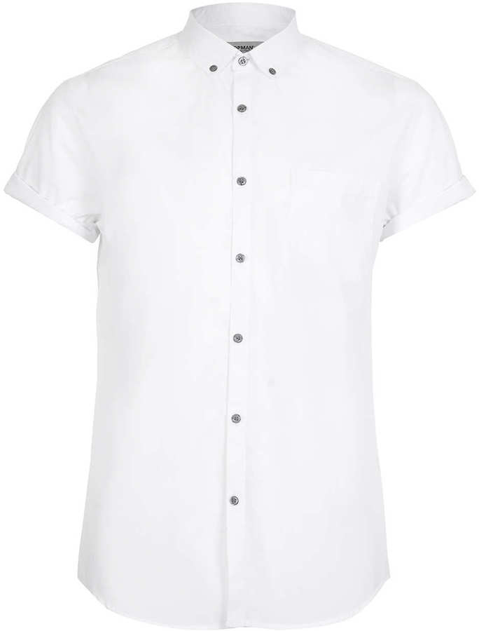 Topman White Button Down Short Sleeve Smart Shirt | Where to buy ...