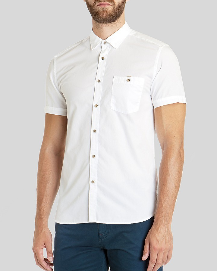 Ted Baker Toscoop End On End Button Down Shirt Regular Fit | Where ...