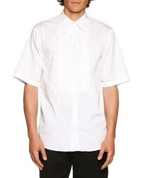 DSQUARED2 Tuxedo Style Short Sleeve Shirt White