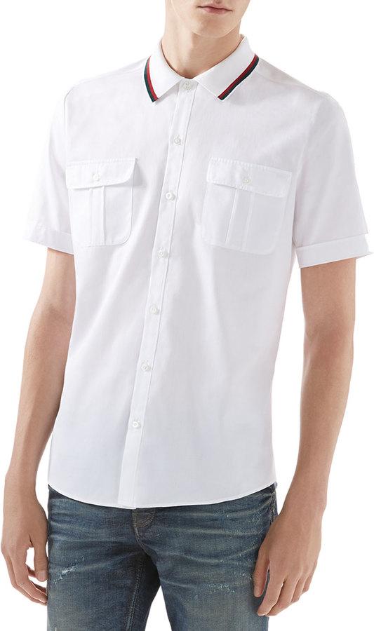 Белая рубашка gucci