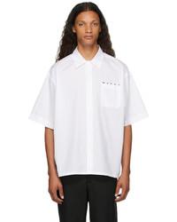 Marni White Bowling Logo Short Sleeve Shirt