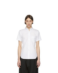 Comme Des Garcons SHIRT White Cotton Poplin Short Sleeve Shirt