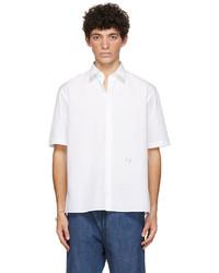 Fendi White Embroidered Short Sleeve Shirt