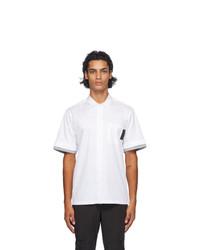 Neil Barrett White Front Pocket Stripe Shirt