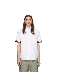 Thom Browne White Gros Cuff Straight Fit Shirt