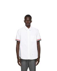 Thom Browne White Gros Cuff Straight Fit Shirt