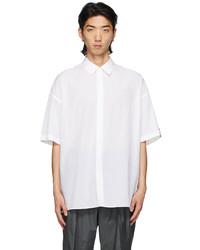 N. Hoolywood White Half Short Sleeve Shirt