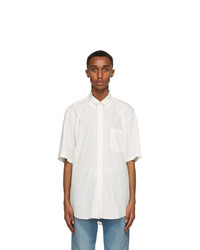 Balenciaga White Logo Normal Fit Short Sleeve Shirt