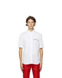 Alexander McQueen White Organic Stretch Poplin Shirt