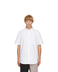 Thom Browne White Oxford Cloth 4 Bar Shirt