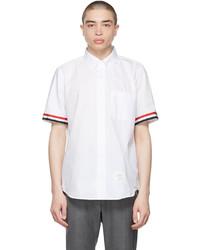 Thom Browne White Seersucker Funmix Shirt