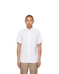 Burberry White Sherwood Short Sleeve Shirt