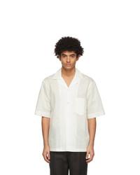 Acne Studios White Striped Short Sleeve Shirt