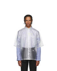 Xander Zhou White Translucent Shirt