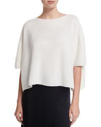 Helmut Lang Cropped Boxy Cashmere Sweater White