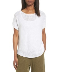 Organic linen cotton knit top medium 3746826