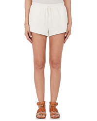 Chloé Chlo Drawstring Waist Cotton Linen Shorts