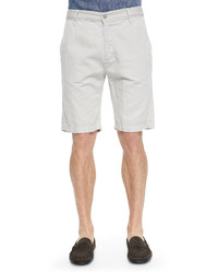 7 For All Mankind Cotton Blend Chino Shorts White Sand