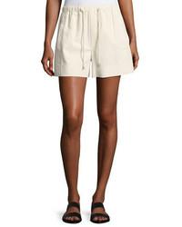 Helmut Lang Drawstring Pull On Cotton Shorts White