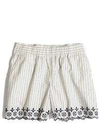 Madewell Embroidered Jardin Shorts