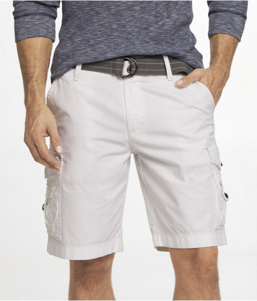 5a233fddc1 Express 10 Inch Belted Cargo Shorts, $69 | Express | Lookastic.com