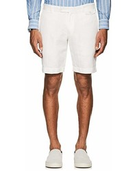 Boglioli Herringbone Weave Cotton Linen Shorts