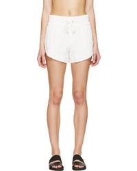Helmut Lang Ivory Crepe Blaze Shorts