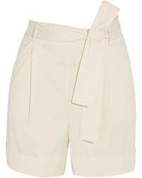 La Perla Op Art Belted Stretch Cady Shorts Ivory