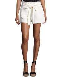 Helmut Lang Patch Pocket Belted Shorts Ivory