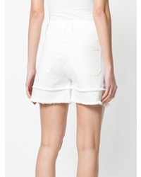 Semicouture Raw Edge Shorts