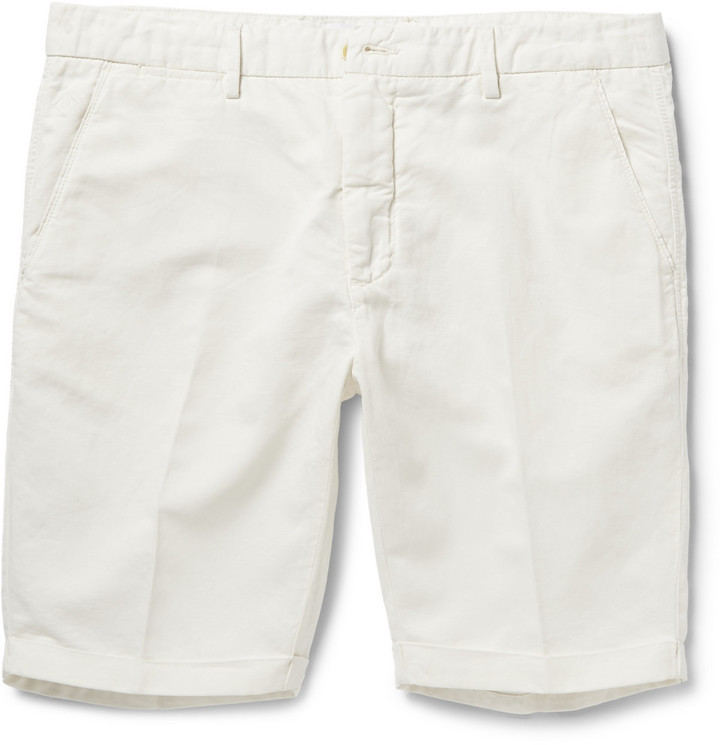Gant Rugger Slim Fit Linen And Cotton Blend Twill Shorts | Where ...