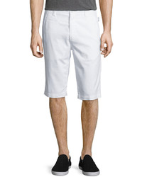 Helmut Lang Side Adjuster Flat Front Shorts White