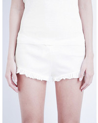 Skin Ribbed Pima Cotton Shorts