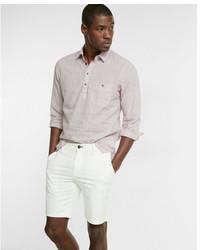 Express Slim Fit 9 Inch Twill Flat Front Flex Stretch Shorts