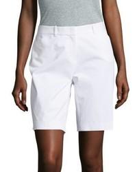 Lafayette 148 New York Stretch Cotton Bermuda Shorts