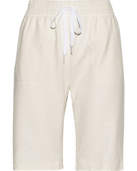 Norma Kamali Stretch Cotton Terry Shorts