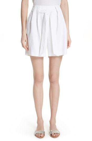 St. John Collection Stretch Twill Tie Front Shorts