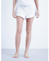The Sleep Shirt Pintuck Cotton Shorts