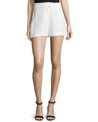 Veronica Beard Tropicana High Waist Tailored Shorts White