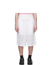Random Identities White Mesh Boxing Shorts