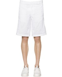 Z Zegna Compact Stretch Cotton Gabardine Shorts