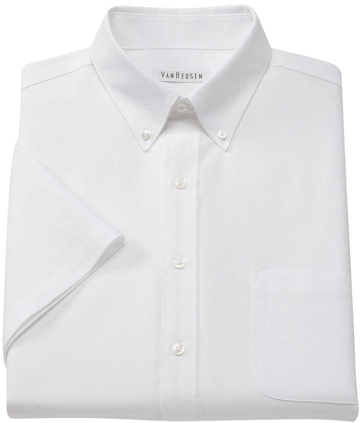 Van Heusen Regular Fit Oxford Easy Care Button Down Collar