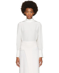 Chloé Chloe White Button Back Blouse