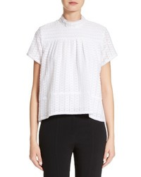 Proenza Schouler Cotton Silk Fil Coupe Top