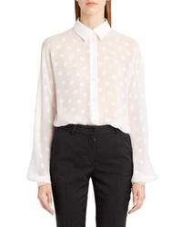 Dolce & Gabbana Dolcegabbana Dot Fil Coupe Blouse