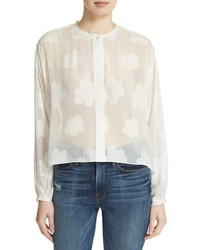 Elizabeth and James Fil Coupe Silk Blouse